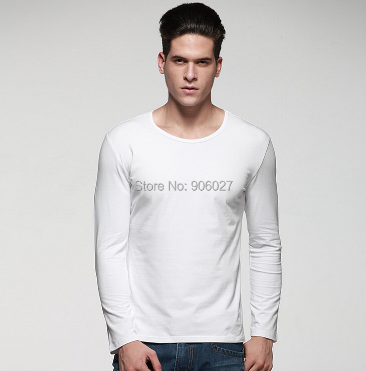 Men's Lycra Cotton Round Neck Long Sleeve T-shirt - Superking International Industrial LTD store