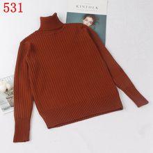 Gigogou M-XL 가을 겨울 따뜻한 여성 풀오버 스웨터 기본 터틀넥 니트 점퍼 패션 리브 여성 니트 스웨터 탑(China)
