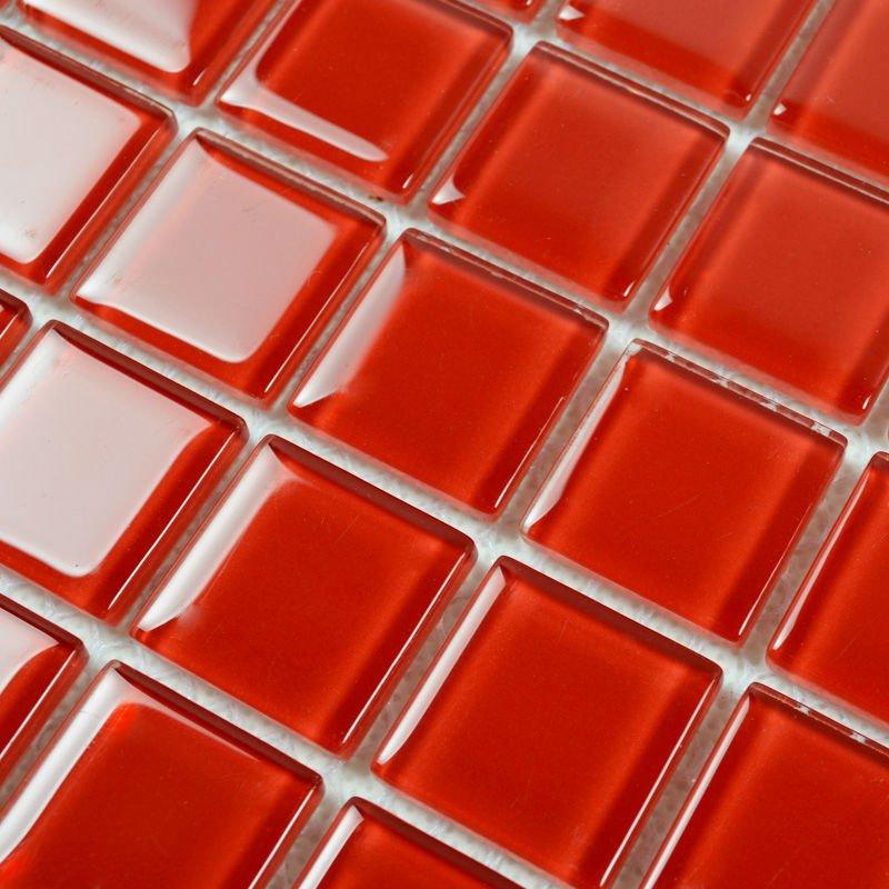 mirror square red mosaic art kitchen wall tiles backsplash discount