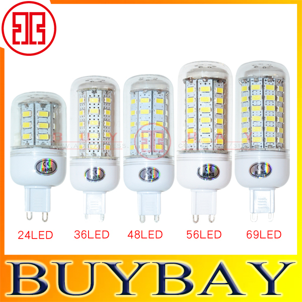 2015 New SMD5730 G9 9W 12W 15W 20W,25W led bulb Warm White/ white,220V/110V 24LEDs 36LEDs 48LEDs 56LEDs 69LEDs G9 Led lamp light(China (Mainland))