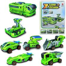 7-in-1 Rechargeable Innovative DIY Solar Robot Transforming Car Station Kit Educational Toys for Kids Children Baby(China (Mainland))