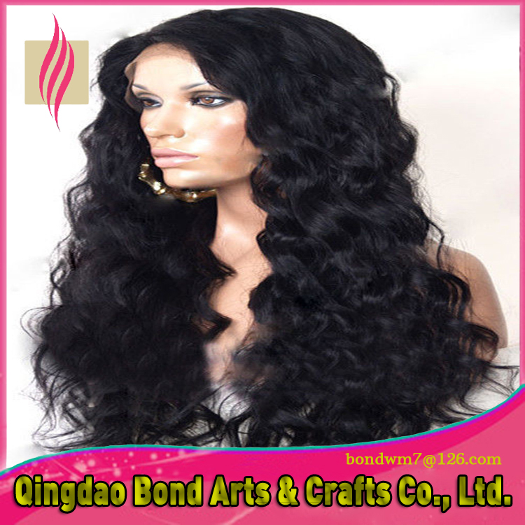 2015 New Classical Virgin Brazilian Human Hair Loose Wave Full Lace Wig Glueless Front Lace Wig with Baby Hair <br><br>Aliexpress