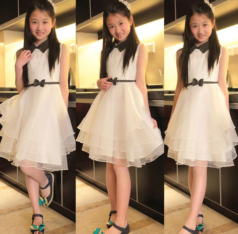 girls Hepburn layered dress graduation party evening teenage teen clothing girl pageant dresses clothing 5-7-8-10-12-14-16 years(China (Mainland))