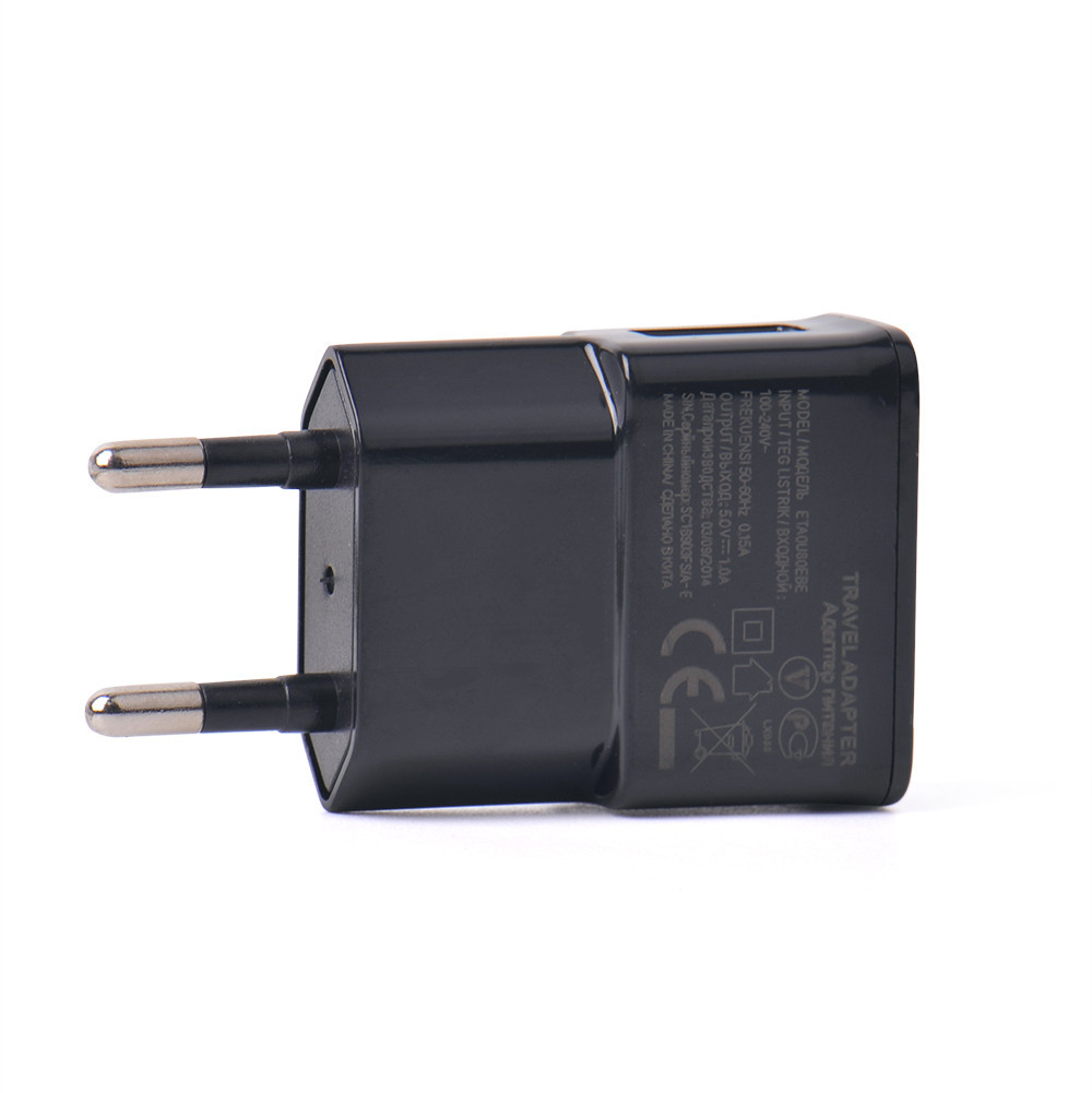 5V 1A EU plug Charger Adapter USB Wall Charger Potable Mobile phone Charger for iPhone Android phones Tablets Travel Charger