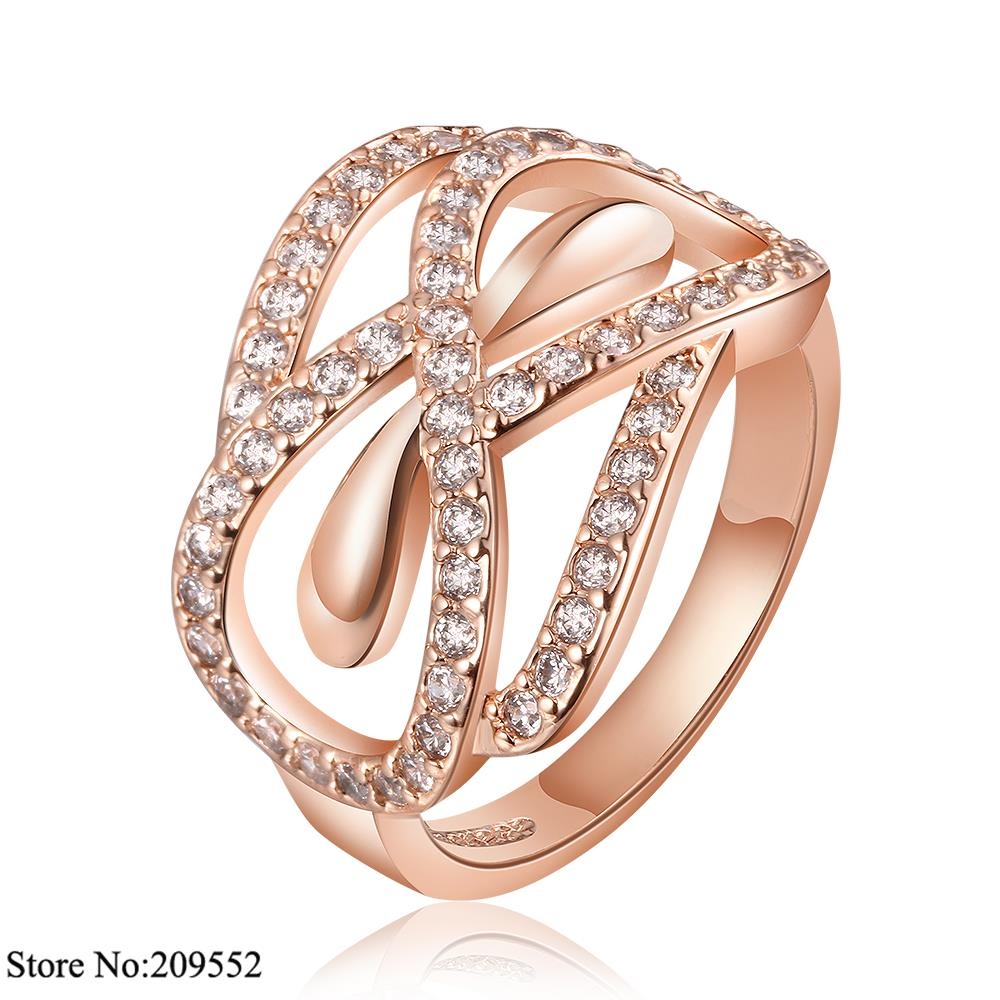 R672-B2015 New Fashion Jewelry 18K Gold Plated Ring Austrian Crystals Rings Women - Amanda Store store