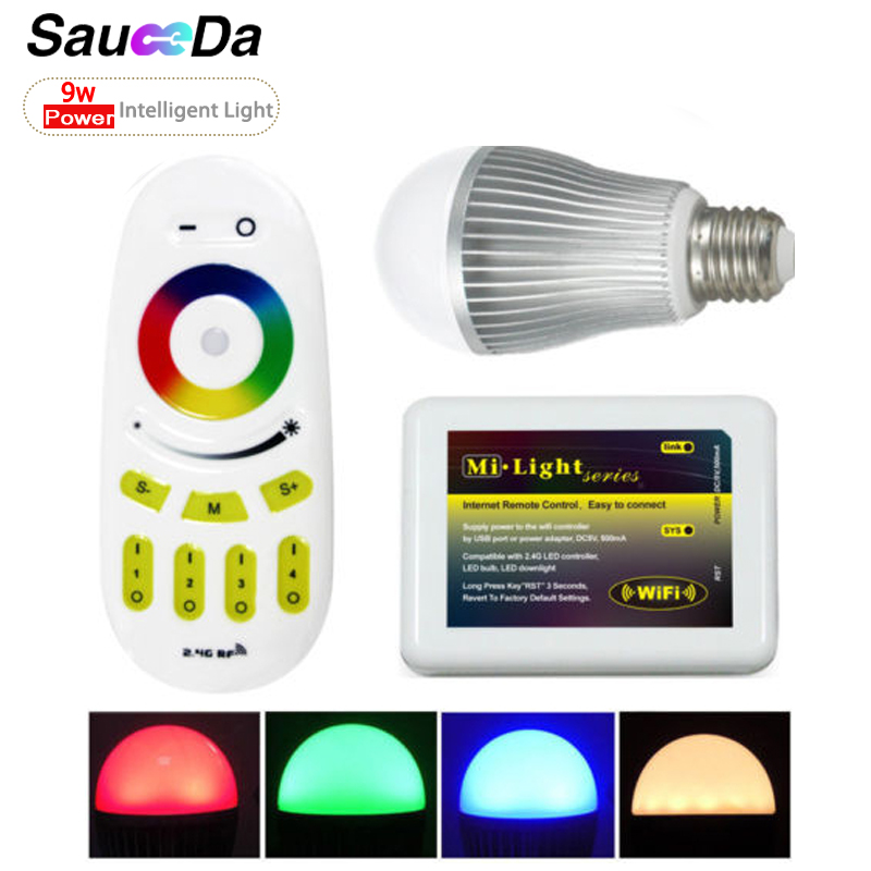 Sauceda 9W 5630 RGB Led Energy Saving Light for home Wireless remote control Dimming color Indoor lighting CE certification <br><br>Aliexpress