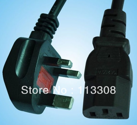 50pcs / lots 1.8m  Power Cable C13 C14 ,UK cable set,c13- UK plug,UK plug - C7,Free shipping By Fedex<br><br>Aliexpress