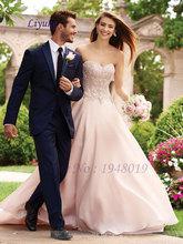 Luxury Beading Wedding Dress Lace Delicate Chiffon Wedding Dress Robe De Mariage Newest A Line Wedding Dress Natural Bride Dress(China (Mainland))