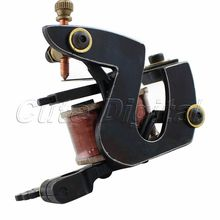 Hot Selling!! 8 Wraps Coil Tattoo Machine Gun for shapering Liner by Handmade Cast Iron frame FREE SHIPPING(China (Mainland))
