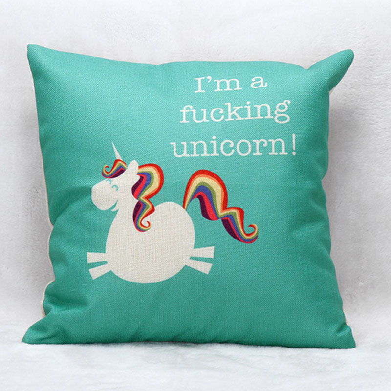 Animal Pillows Bulk : Wholesale Cute Animals Sofa Car Cushion Animal Pattern Printed 45x45cm Cushion Cartoon Unicorn ...