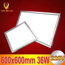 1pcs Office Bathroom Kitchen Lighting Aluminum Ceiling Light Lamp Square Led Panel 600x600mm 36W 220V(China (Mainland))
