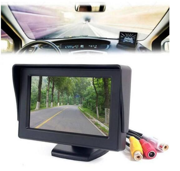 """2016 High quality 4.3"""" Foldable Color LCD Monitor Car Reverse Rearview 4.3"""" Parking System LCD Monitor for Car Rear view Camera(China (Mainland))"""