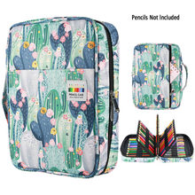 216 Slots Large Capacity Pencil Bag Case Organizer Cosmetic Bag For Colored Pencil Watercolor Pen Markers Gel Pens Great Gifts(China)