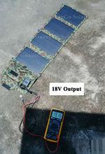 14 Watt DC 18V+Double USB 5V Portable Solar Power Battery Charger Folding Solar Pack for Camper(China (Mainland))