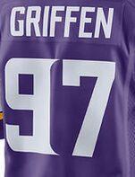 Men's 97 Michael Griffin #29 Xavier Rhodes 8 sam 55 Anthony 22 Harrison jerseys White purple(China (Mainland))