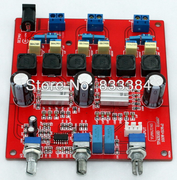 2.1 TPA3116 Class D Digital Amplifier Board 100W + 50W 50mA