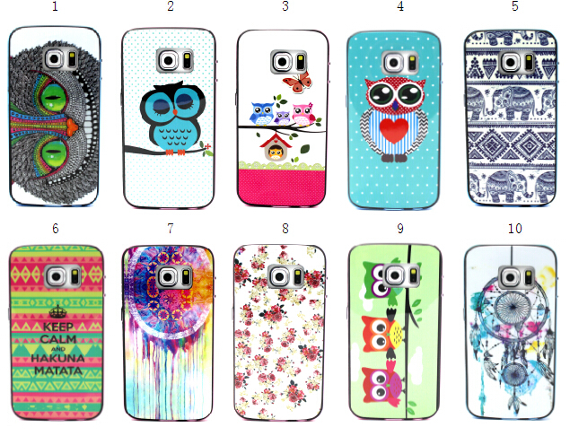 SGP Bumblebee NEO Hybrid Cover Case 2 in 1 Soft TPU + Hard PC Flower butterfly cute owl For Samsung Galaxy S6 edge G925 G9250(China (Mainland))