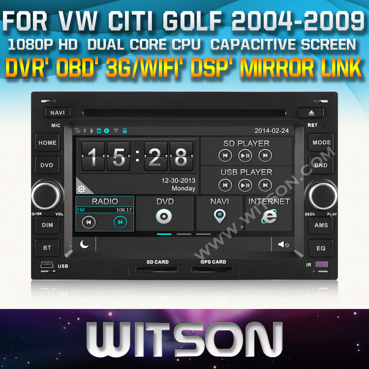 WITSON factory price!! car dvd for VW CHICO SHARAN TRANSPORTER(T4/T5) Skoda Octavia I Super+Mirror Link function+TPMS+DVR+ WIFI(China (Mainland))