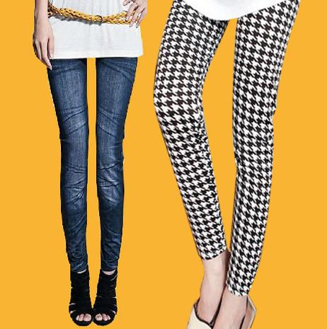 2015 spring doodle legging fashion women's