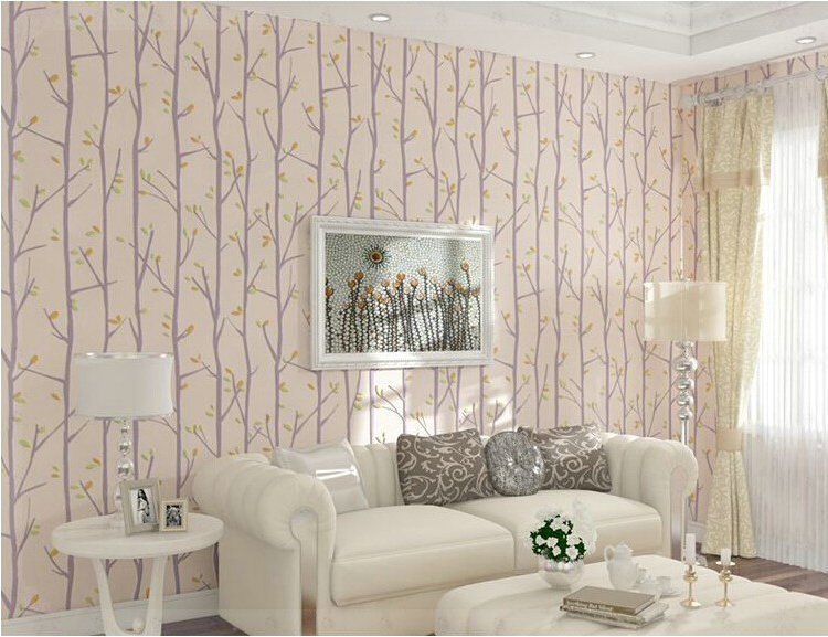 Trees on bedroom walls images for Tree wallpaper bedroom
