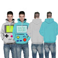 Grey PACMAN Games Mens Hoodies Sweater Autumn Long Sleeves Skateboarding Sweatshirts Green Hooded Tracksuit Moletom Masculina