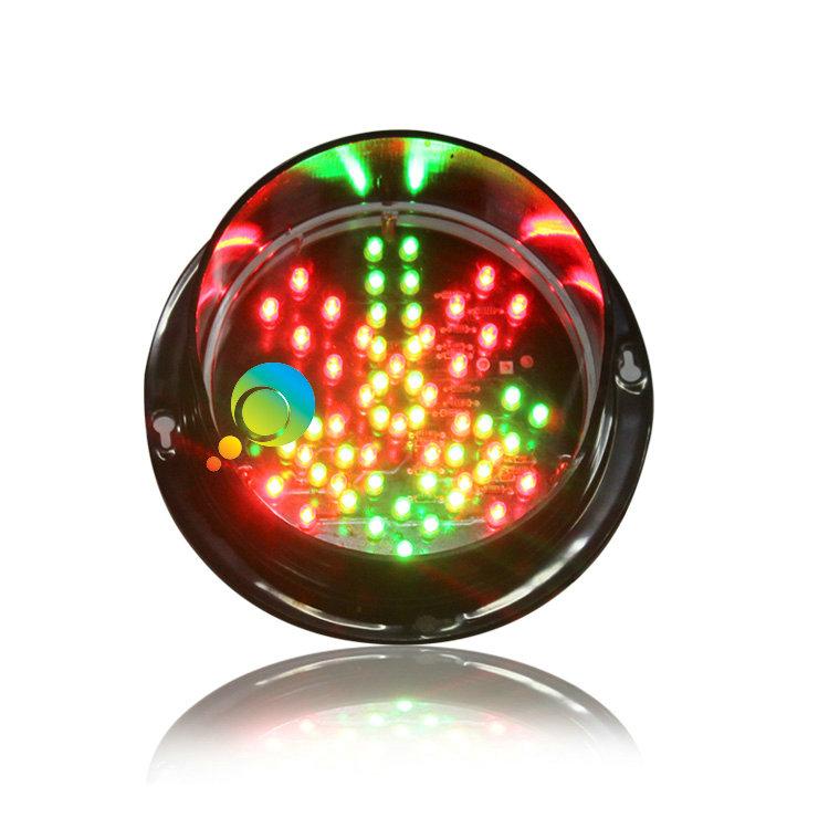 High quality 125mm red cross green arrow Taiwan Epistar LED flashing traffic light(China (Mainland))