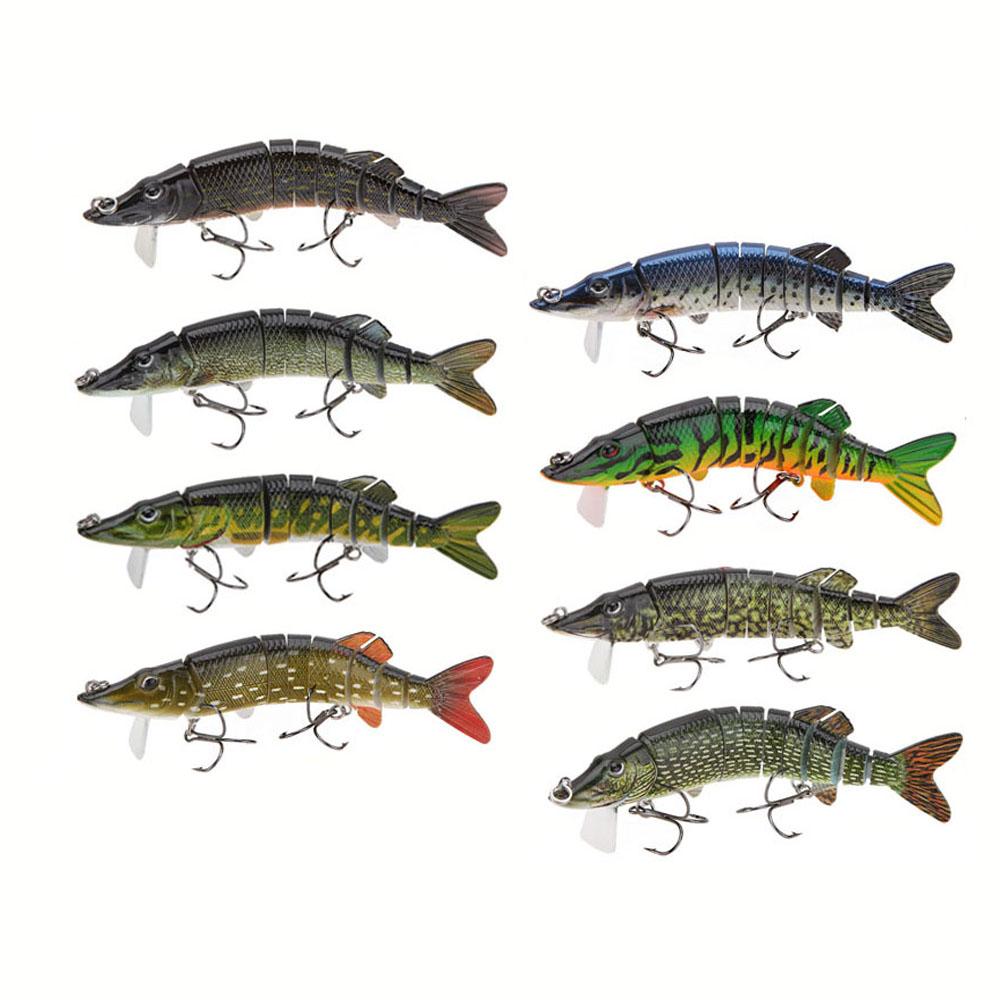 "5"" 12.5cm 20g 9-Segement LIXADA Pike Lure with Mouth Swimbait Crankbait Pike Muskie Fishing Lure Hard Pike Fishing Bait Tackle(China (Mainland))"