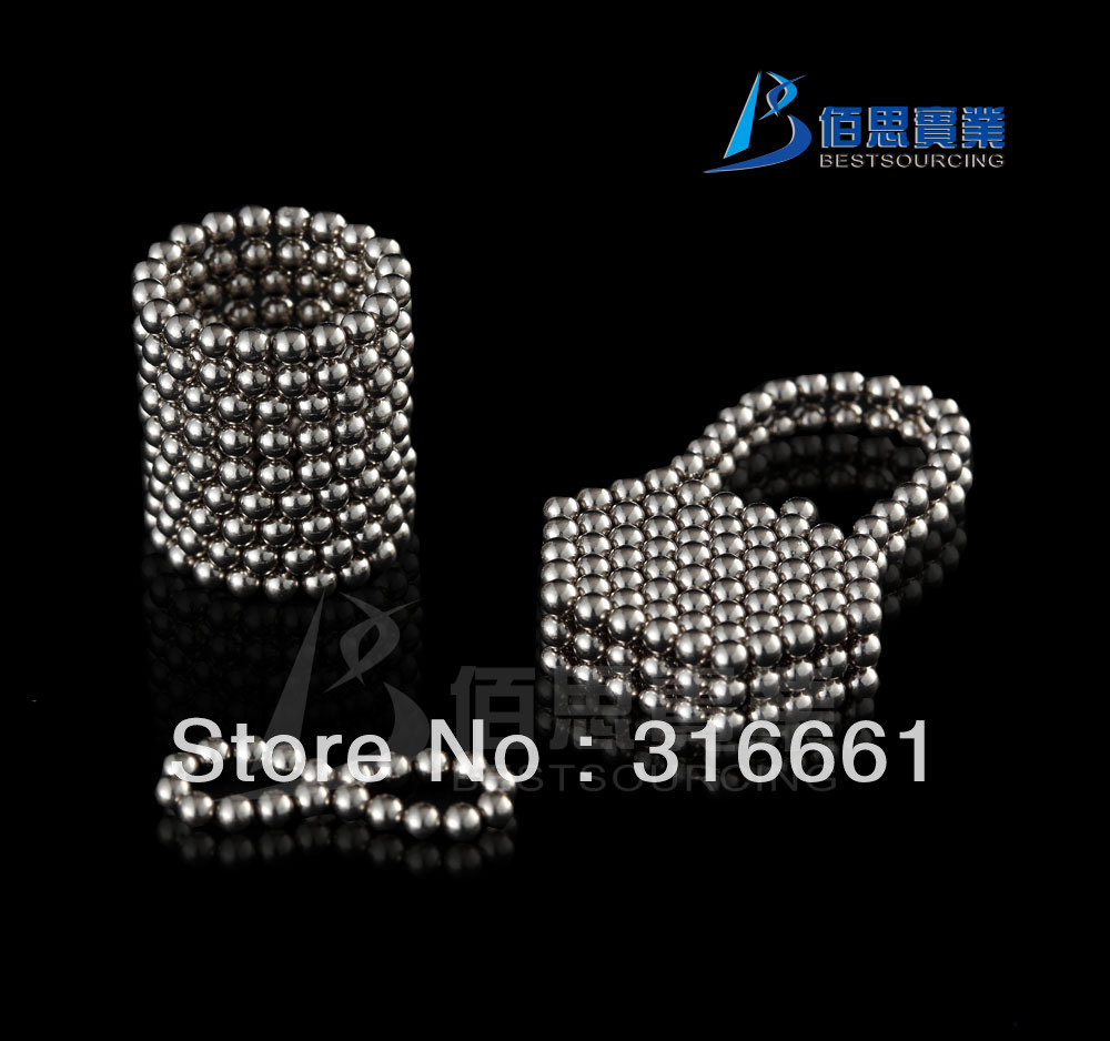 Free shipping 216 D3mm Silver Neocube Toy Neo Cubes Magnet Balls miraculous intelligence toy(China (Mainland))
