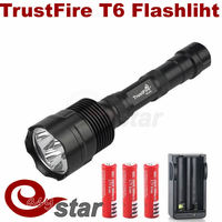 Waterproof 3800lm 3x Cree Xm-l T6 LED Flashlight TrustFire Torch & 3x18650 Batteries + EU Charger