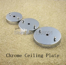 Pendant Light Ceiling Base Plate Lighting Disc Chassis Ceiling Plate Chrome Colour DIY Lighting Accessories Dia 10cm 12cm 15cm(China (Mainland))