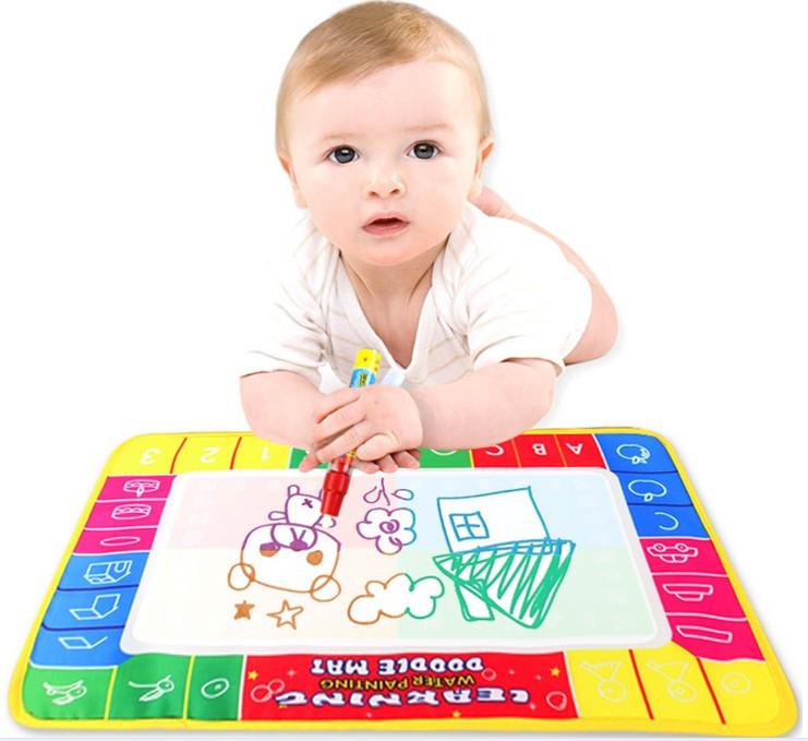 45x29cm 4color Water Drawing board magic pen /Aquadoodle MatWater board/baby play mat - yanmenglei store