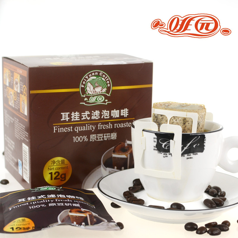 Pure coffee blue mountain coffee ear coffee folliculo style ear hook black coffee powder excellent taste