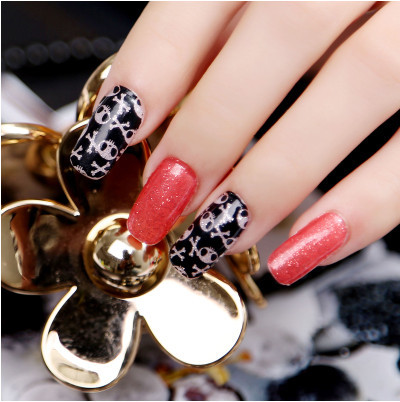 red & black Sexy Pattern Water Decals Transfer Stickers Nail Art decoration(China (Mainland))