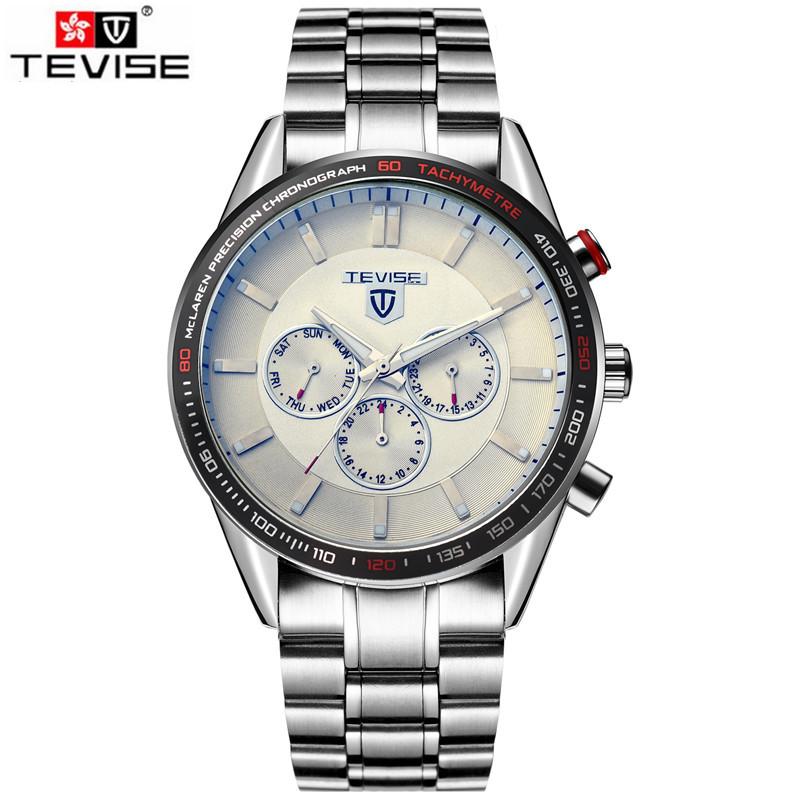 Fashion Auto Watches Men Mechanical Men 6 Hands PU Leather Band Watch Wristwatch Gift Box Free Ship