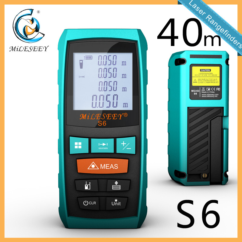 Гаджет  Mileseey S6 Handheld Rangefinder Laser Distance Meter  Digital  Laser Range Finder Laser Tape Measure  40M None Инструменты