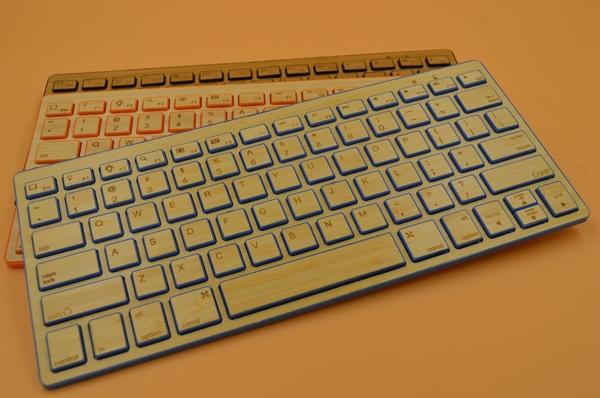 High quality Natural Handmade Bluetooth slim keyboard series thin wooden Bamboo Keyboard for PC computer phone(China (Mainland))