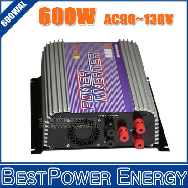 Hot Sale!! 600W Wind Grid Tie Inverter 3 Phase(AC10.8~30V, AC22~60V) Input, Output AC110V/220V, Built-in Dump Load Controller
