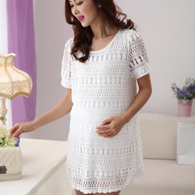 2016 new summer font b maternity b font dresses lace women s dresses pregnancy dresses font