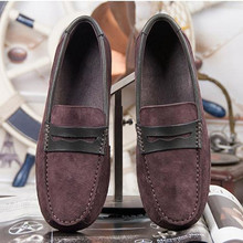 Men's Flat with casual shoes brown black Matte leather soft bottom driving shoes Male Loafers huarche yeezy boty obuv(China (Mainland))