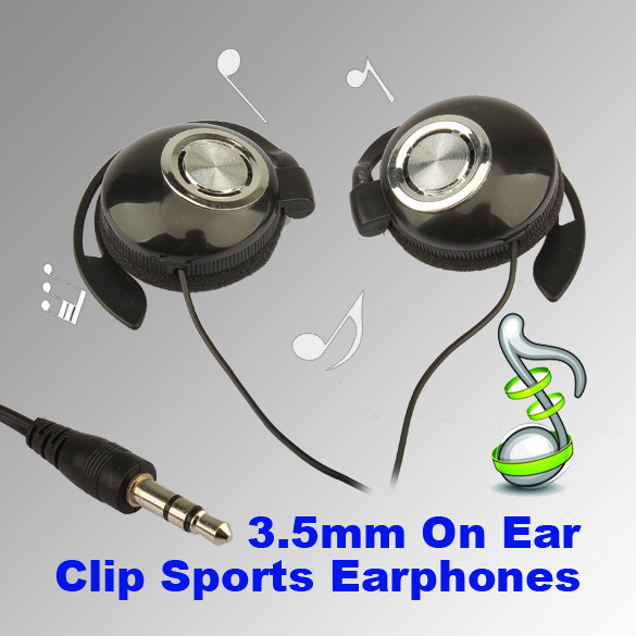 Sport Earphone Clip On Sports Stereo Headphones Earphone For MP3 MP4 Player Headset Fone De Ouvido Auriculares Audifonos(China (Mainland))