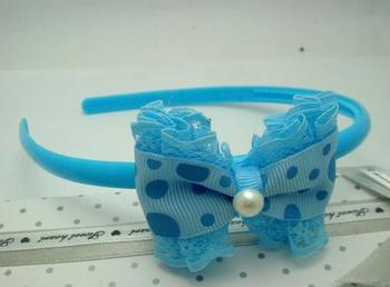 New style fashion sweet pearl lace bow hairwear for child C6164