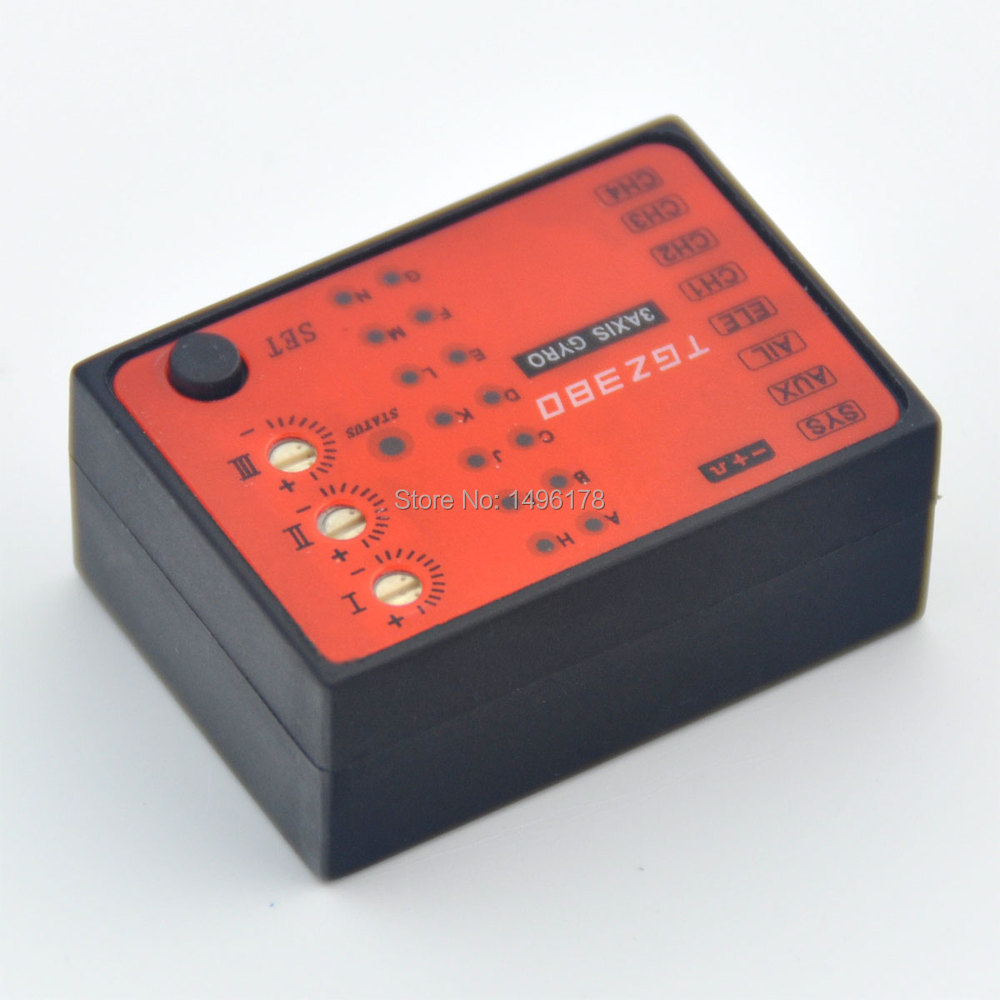 MB TGZ380 3 Axis Gyro Flybarless System For ALIGN TREX T-REX etc. 450 550 600 700 RC Helicopter FBL DFC