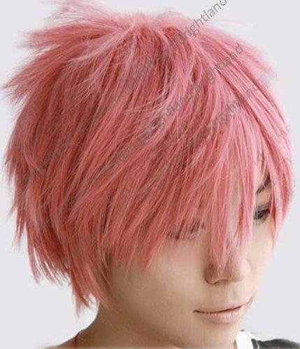 Pink Wigs Halloween Costume Wig Short Pink Halloween
