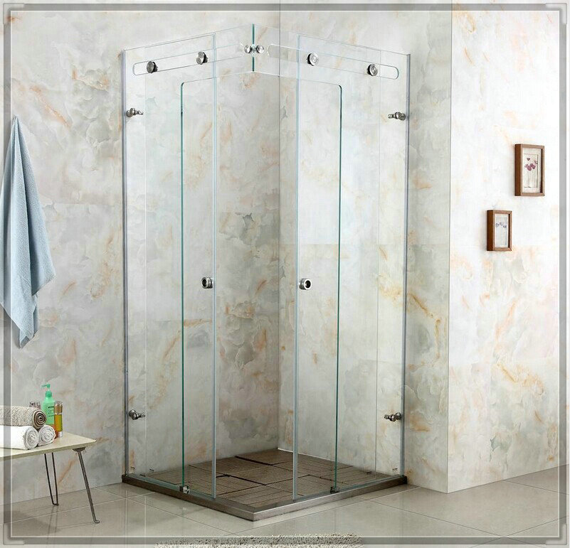 Luxury crystal glass shower room shower cabin shower glass door shower enclosure customize size bathroom faucets price(China (Mainland))