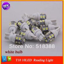 10pcs T10 10 led white bulb core highlight/car styling light/parking light lamp/reading lamp license plate lamp car light source(China (Mainland))
