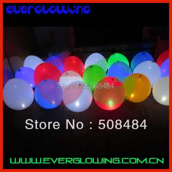 Free shipping 2000pcs/lot 12inches color changing New LED balloon Flashing Balloon light up balloon for Christmas