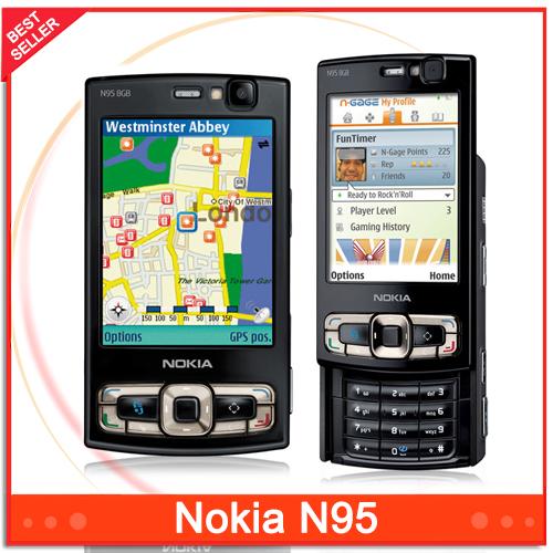 N95 Unlocked Original Nokia N95 mobile phone GSM 3G WIFI Bluetooth GPS 5MP Camera Phone Free Shipping(China (Mainland))