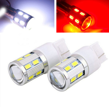 T20 W21W 7440 WY21W 16 LED 5630 5730 SMD car Backup Reserve Lights auto brake light fog lamps 12V red yellow white 2X - VIP9999 store