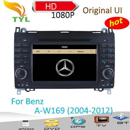 In dash Original car dvd for Benz A-class W169 (2004-2012) with IPOD+TV+AM/FM+BT+GPS+CANBUS Free shipping(China (Mainland))