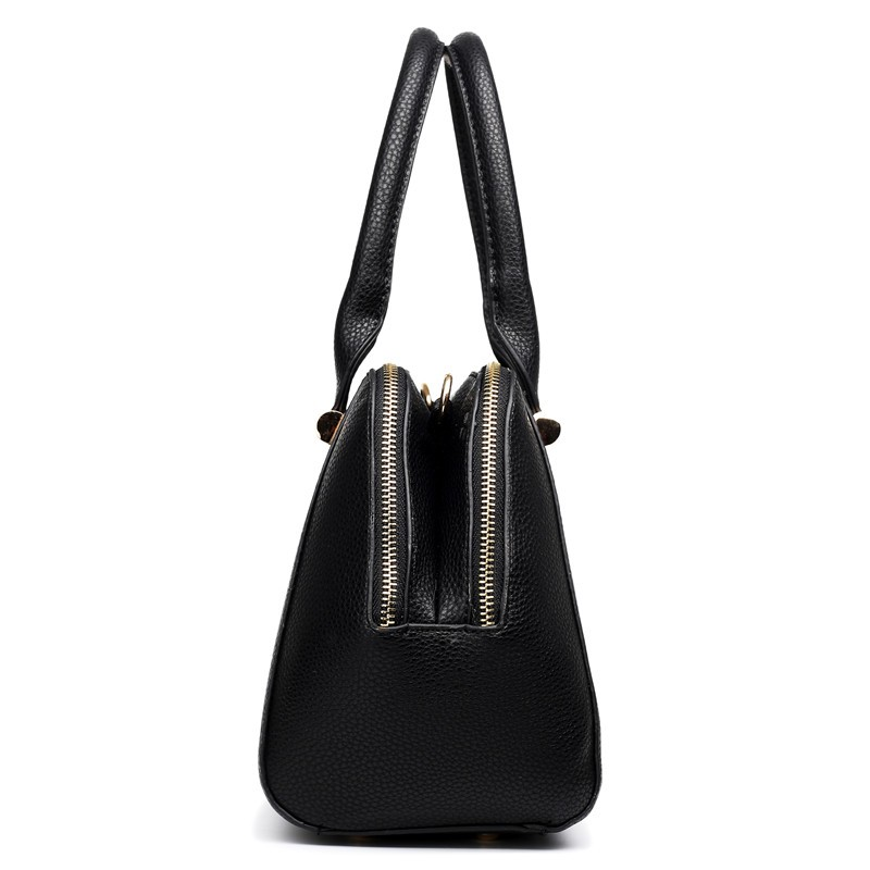 Fashion women leather handbags messenger bags Classic textured leather look two compartment shoulder bag
